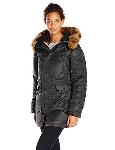 - Alpha Industries Women's N-3B GEN I Parka, Black, M