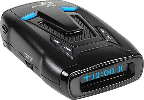 Whistler CR93 High Performance Laser Radar Detector: 360 Degree Protection, Bilingual Voice Alerts, and Internal GPS
