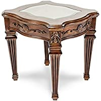 Michael Amini Villagio End Table, Hazelnut