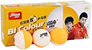DHS D40+ Bi-Color White Orange Table Tennis Perfectly Round Ping Pong Ball High Bouncy Tough Decent Consistent