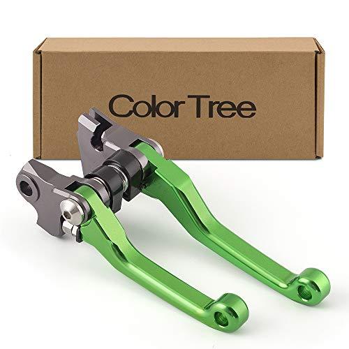 color tree Pivot Dirt Bike CNC Brake Clutch Levers For KAWASAKI KX250F KX450F 2013 2014 2015 2016 Green