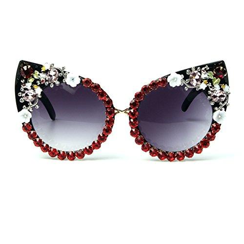 gafas de Vintage Decoración Gato Rhinestone tonos de Gafas TL Eyewear mujer sol de Joyería Sunglasses Ojo Ag8fcwqB