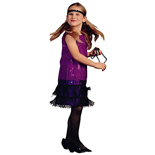 Child's Purple Sequin Flapper Halloween Costume (Size: Sm...