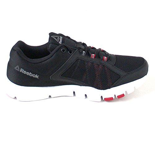 Reebok Bd4825, Zapatillas de Deporte para Hombre Negro (Negro (Blk /     Excellent Red /     Wht /     Pewter /     Grey)