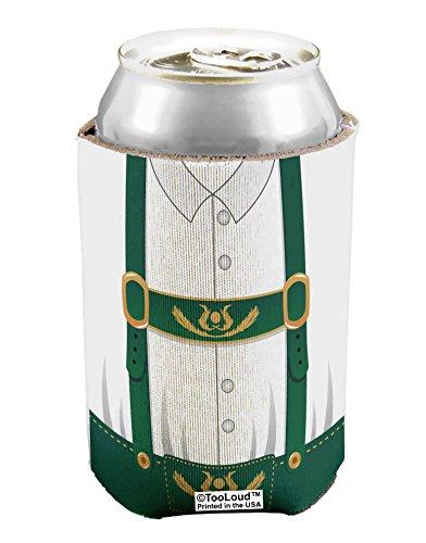 [TooLoud Lederhosen Costume Green Can / Bottle Insulator Cooler - 1 Piece All Over Print] (Beer Koozie Costume)