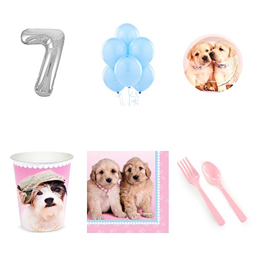 - Rachael Hale Glamour Dogs 7th Birthday Party Supplies Pack for 24