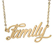 """HUAN XUN I Love You Mom Daughter Necklace Sister Necklace Gold, 16+2"""" Extender"""
