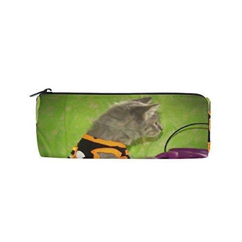 Pencil Pouch Halloween Kitty Animals Cats Zipit Cute Pencil Cases School Pen Organizer Holder Womens Makeup Bag