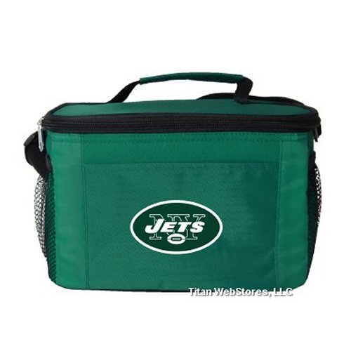 NFL Football Tailgating 6 Pack Cooler - Lunch Box Cooler (Jets)