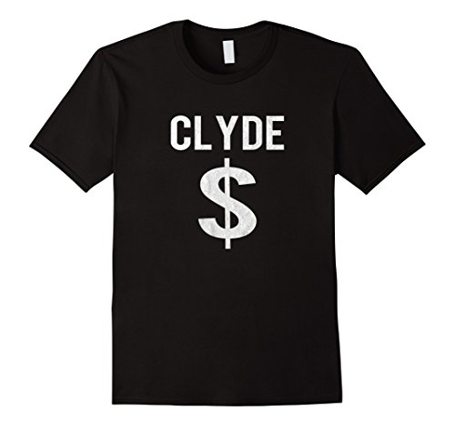 Mens Bonnie and Clyde T-shirt Halloween Matching Couples Costume Small (Bonnie Clyde Costume)