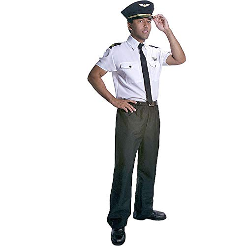 Airline Pilot Costume (Dress Up America Adults Deluxe Pilot Costume -)