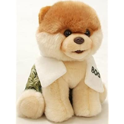 "Gund Boo The World's Cutest Dog With Swim Trunks & Towel 9"" Plush Toy (Limited Quantity): Toys & Games"