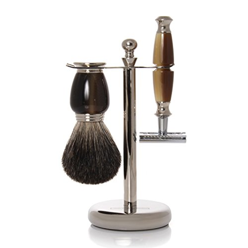 GOLDDACHS Shaving Set, Safety Razor, 100% badger hair, for sale  Delivered anywhere in Canada