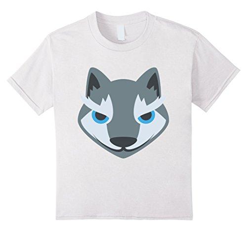 Kids Wolf Emoji Costume Mask Emoji Emoticon Cute T Shirt Tee New 10 White (Cute Werewolf Costumes For Kids)