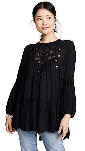 Free People Women's Kiss Kiss Tunic, Black, Small from Free People