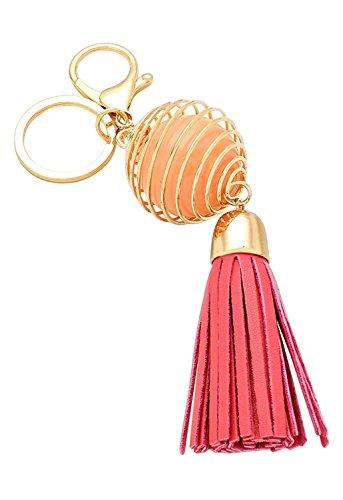 Rosemarie Collections Women's Really Pink Key Chain Handbag Charm -
