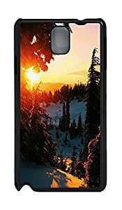 Samsung Note 3 Case landscapes nature snow 3 PC Custom Samsung Note 3 Case Cover Black