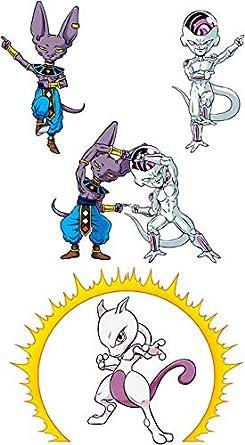 Parodie Dragon Ball Super - Pok/émon Pok/émon parodique Beerus Okiwoki Sweat /à Capuche Enfant Noir Dragon Ball Super Freezer et Mewtwo : Fusion f/éline.