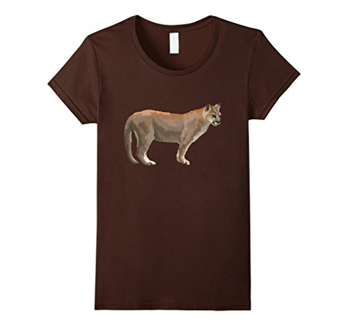 Womens Cougar Mountain Lion Puma Panther Catamount T Shir...
