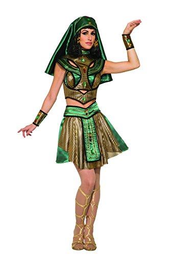 Forum Novelties Women's Egyptian Priestess Deluxe Costume, Green/Gold,