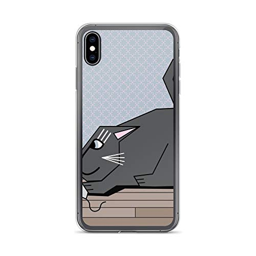 iPhone Xs Max Case Anti-Scratch Creature Animal Transparent Cases Cover Pouncing Cat Animals Fauna Crystal Clear