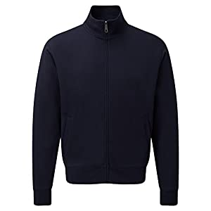 Russell Mens Authentic Full Zip Sweatshirt Jacket (2XL) (French Navy)