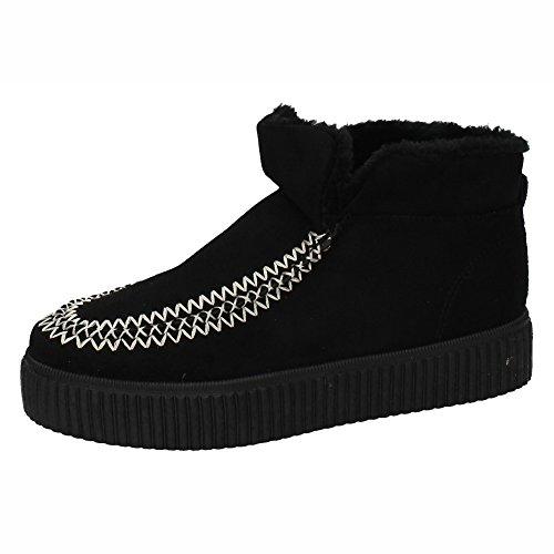 Pelo Negro Forrado Botines Zapatop 315 Mujer A Botín 7RW0WAI 03459d7a69e