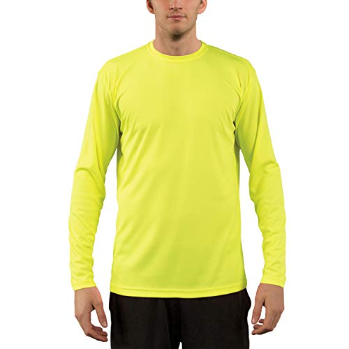 Vapor Apparel Men's UPF 50+ UV Sun Protection Performance Long Sleeve T-Shirt XX-Large Safety Yellow (Volleyball Yellow T-shirt)