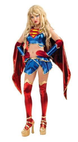 Secret Wishes Womens DC Comics Ame-comi Heroine Series Supergirl Costume, Red/White/Blue, Medium