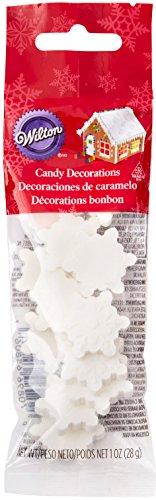 Wilton Candy Decorations White Snowflakes (Snowflake Wilton)
