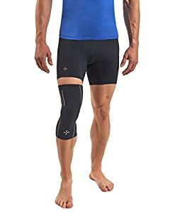 Tommie Copper Men's Performance Knee Sleeves 2.0, Large, Black