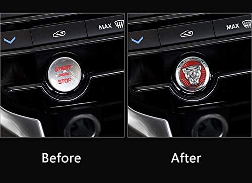 MAXDOOL Car Engine Start Stop Button Cover Switch Knob Head Decorative Sequin Cap Cover Decal Trim fit for Jaguar XFL XJL XE F-PACE