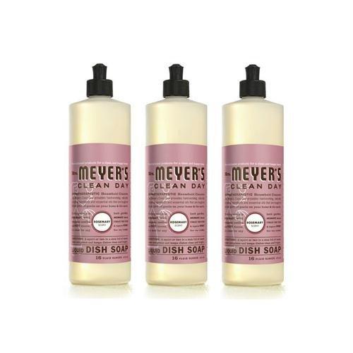 Mrs Meyers Dish soap, liq, Rosemary, 16 Oz (Pack of 6)