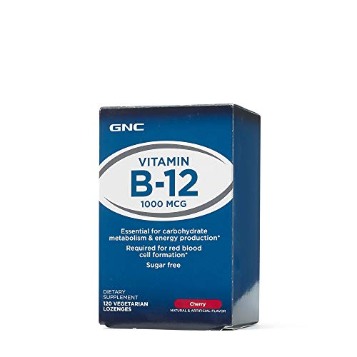 GNC Vitamin B-12 1000mcg, 120 Lozenges, Supports Carbohydrate Metabolism and Energy - B-12 Vitamins Gnc