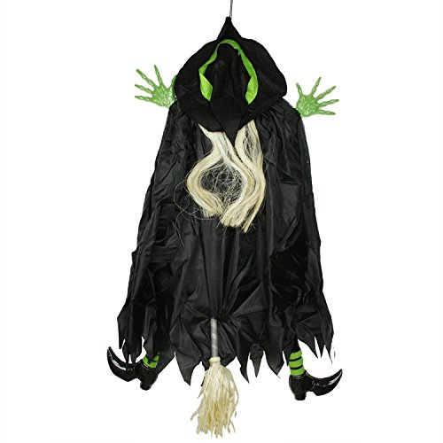 Northlight 4.5' Humorous Crashing Witch Hanging Halloween Decoration