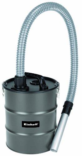 Einhell Aschefilter 12 l, Verbindung mit Staubsauger/Nass-Trockensauger, 12 l Behälter, 1 m Metall-Saugschlauch, Alu-Saugrohr, Tragegriff