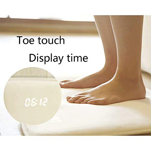 SPA Tool Smart LED Alarm Clock,Pressure Sensitive Alarm Clock,Digital Display Pressure Sensitive Alarm Clock for Heavy Sleepers,Rug Carpet Alarm Clock for Modern Home,Kids,Teens,Girls and Guys