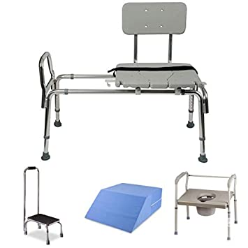 Brilliant Amazon Com Tub Transfer Bench And Sliding Shower Chair With Ncnpc Chair Design For Home Ncnpcorg