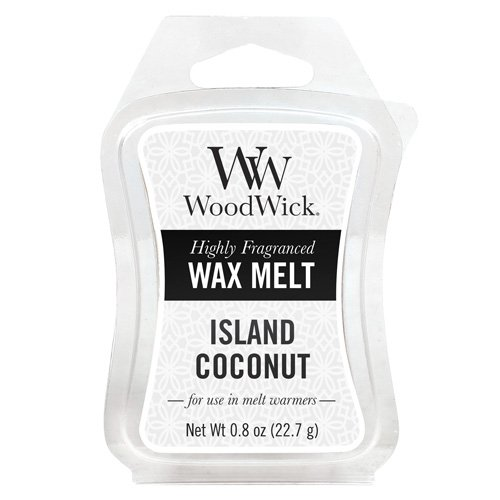 Woodwick Mini Wax Melt Island Coconut, White 57115