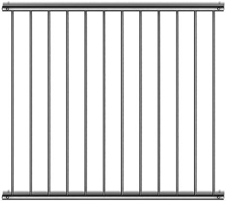 0-500 mm; L/änge Edelstahl geschliffen K240 401-500 mm Fenstergitter Variante 1 frei konfigurierbar Gr/ö/ße H/öhe