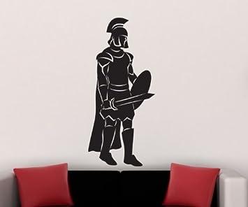 Autocollants Tatouage Mural Romain Guerrier Gladiator Decoration