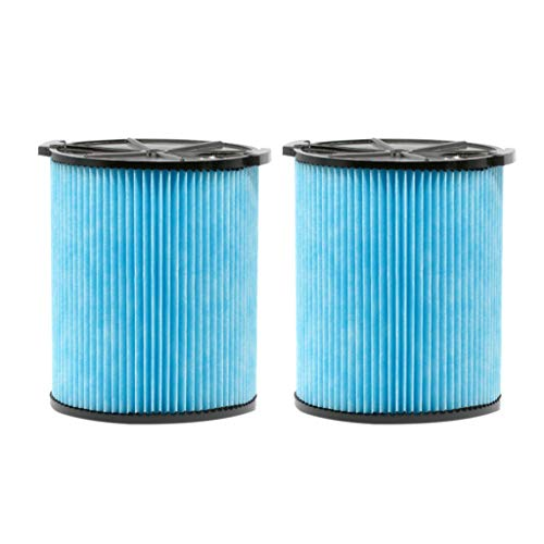 Iusun 3-Layer Pleated Paper Vacuum Filter 2PC Replacement Parts Kits For Ridgid V5000 Vacuum Cleaner Clearing Accessories Set (Black)