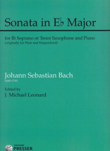 Sonata in Eb Major for Soprano or Tenor Saxophone and Piano
