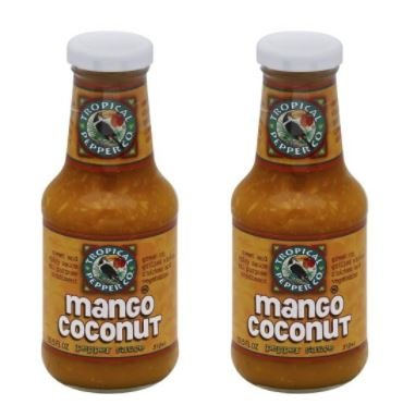 Tropical Pepper Sauce Mango Coconut 10.5 oz (Pack of 2)