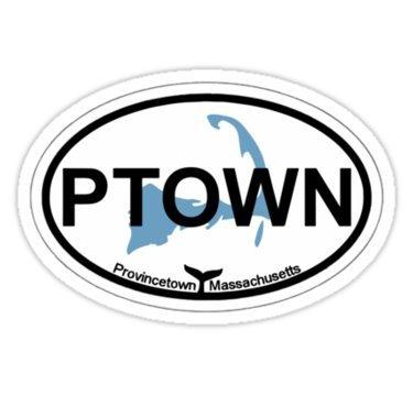 Provincetown - Cape Cod. - Sticker Graphic Bumper Window Sicker Decal - Gay Pride Sticker Provincetown Cape Cod