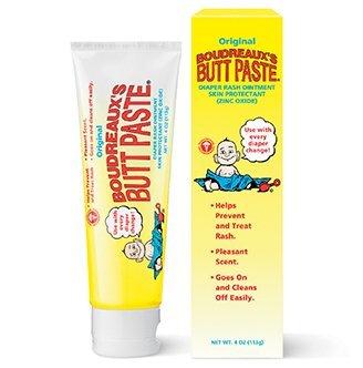 Boudreauxs Butt Paste, Diaper Rash Ointment, Tube 4 oz (113 g) (Pack of 2)
