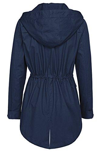 ANGVNS Military Anorak Safari Hoodie Jacket Coat for women
