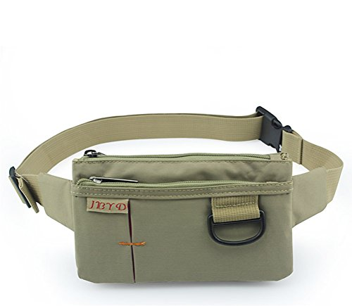 (Slim Sport Polyester Stealth Small Waist Bag Fanny packs Khaki)