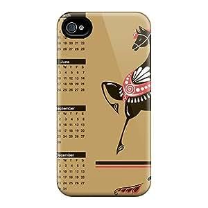 Excellent Design 2014 Calendar God Loshadi Case Cover For Iphone 4/4s