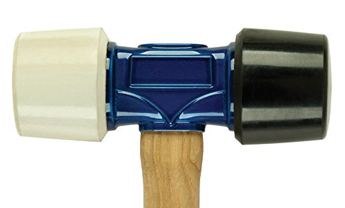 Estwing Rubber Mallet  - 24 oz Double-Face Hammer with Soft/Hard Tips & Hickory Wood Handle - DFH24 by Estwing (Image #2)